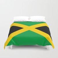 jamaica Duvet Covers featuring Jamaica by RickART