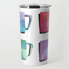 Coffee Mugs - Rainbow Colors Travel Mug