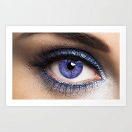 Woman's Blue Eye Art Print