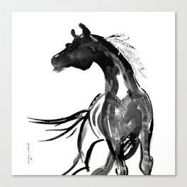Horse (Ink sketch) Canvas Print