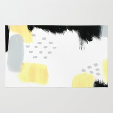 Yellow Abstract Painting Rug