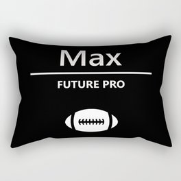 Max - Football Black and White Rectangular Pillow