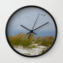 Sea Oats On Anna Maria Island (1) Wall Clock
