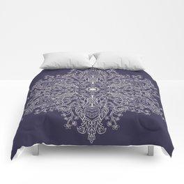 Spring Garden Mandala Ultra Violet Comforters