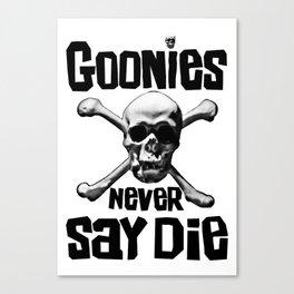 the goonies never say die Canvas Print
