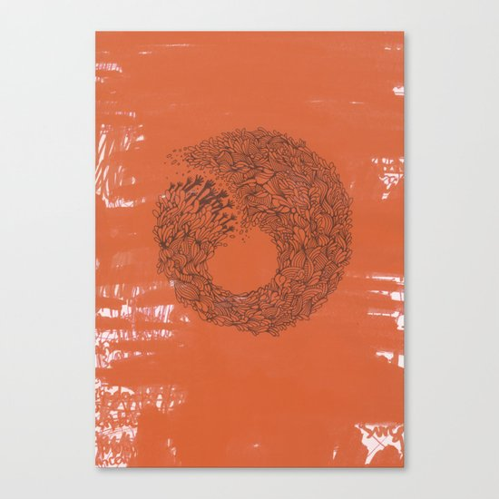 Home Orange Canvas Print