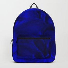Royal Blue Fractal dahlia Backpack