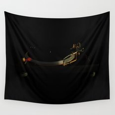 Turntable in the dark Wall Tapestry