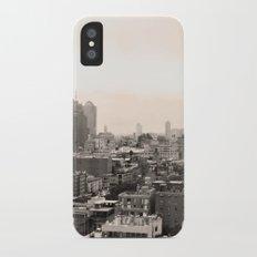 Lower East Side Skyline #1 Slim Case iPhone X