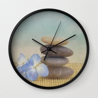 zen Wall Clocks featuring Zen by Kim Hojnacki Photography