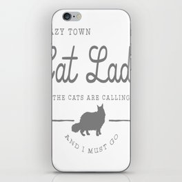 Crazy Town Cat Lady iPhone Skin