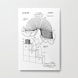Slinky: Richard T. James Slinky Patent Metal Print