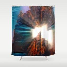 Rock Glows Shower Curtain