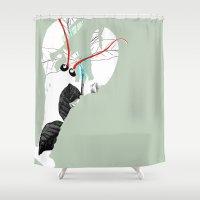 lobster Shower Curtains featuring Lobster by Urška Hočevar