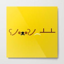 ʕノ•ᴥ•ʔノ ︵ ┻━┻ Bear Table Flip! Metal Print