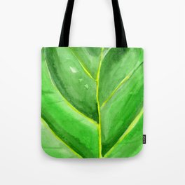 Fiddle Leaf Fig Watercolor Tote Bag