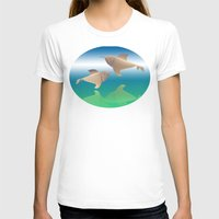 dolphins T-shirts featuring dolphins by Ruud van Koningsbrugge