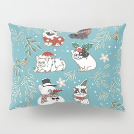 Christmas French Bulldog Pillow Sham