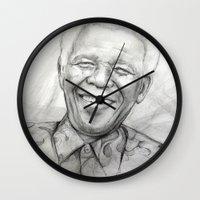 mandela Wall Clocks featuring Mandela by Tamara Patrick