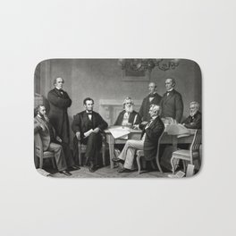 President Lincoln and His Cabinet Bath Mat
