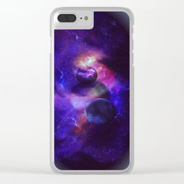 Planetary wings Clear iPhone Case