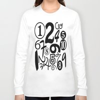 numbers Long Sleeve T-shirts featuring Numbers by Sweet Colors Gallery