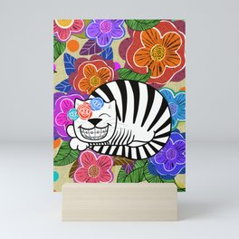 Molly cat got braces! Mini Art Print