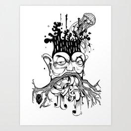 Nerd tree Art Print