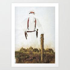 The Unknown Rider Silver Canyon Art Print