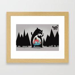 Nom Nom Nom Framed Art Print