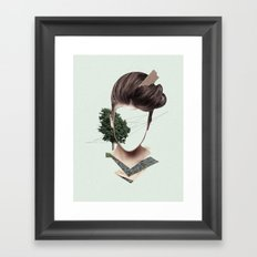 Woman Collage Framed Art Print