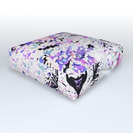LION PINK and WHITE Outdoor Floor Cushion