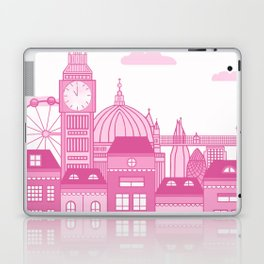 London Skyline Pink Laptop & iPad Skin