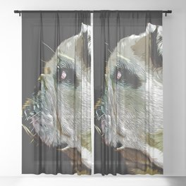 english bulldog dog vector art Sheer Curtain
