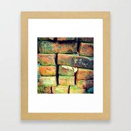 Green Stack Framed Art Print