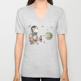 space graffiti Unisex V-Neck