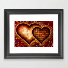 Lego Love - 162 Framed Art Print