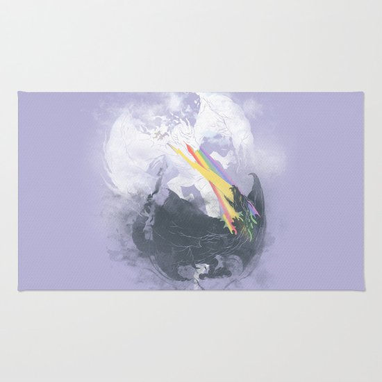 Clash of the sky Dragons Rug