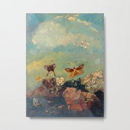 Odilon Redon - Butterflies Metal Print