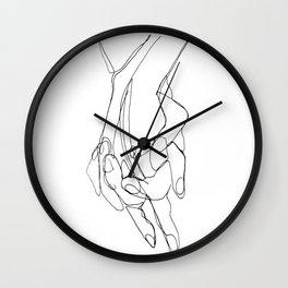 One Line Love Wall Clock