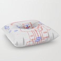 Mariachi in the Desert Floor Pillow