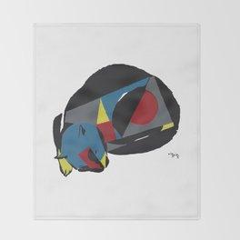 abstract sleeping cat (silkscreen) Throw Blanket