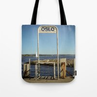 oslo Tote Bags featuring Oslo by fedepallas