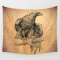 falcon Wall Tapestries featuring Falcon illustration by Thubakabra