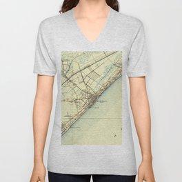 Vintage Map of Myrtle Beach South Carolina (1940) Unisex V-Neck