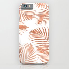 Rose Gold Palm Leaves iPhone Case