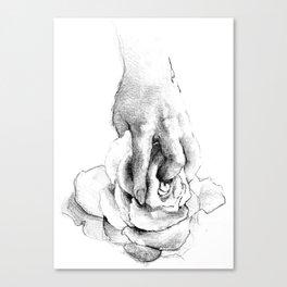 Hand&Rose study I Canvas Print