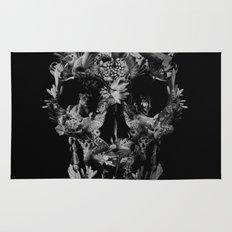 Jungle Skull B&W Rug
