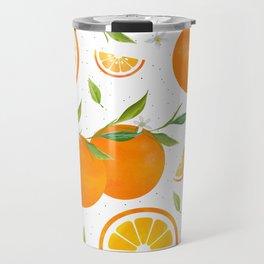 White Clementine Travel Mug