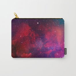 Purple & Red Watercolor Space Pattern Carry-All Pouch